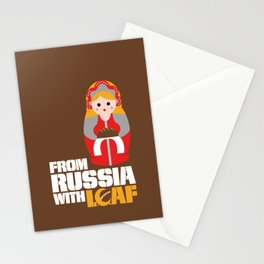 from Russia with loaf Stationery Cards