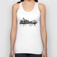 seattle Tank Tops featuring Seattle. by Dioptri Art