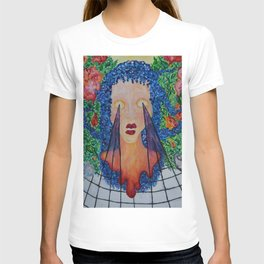 seethrough surreal paint T-shirt