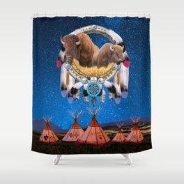 BUFFALO DREAM CATCHER Shower Curtain