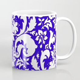 Paisley Damask Blue and White Coffee Mug