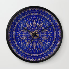 Ek Onkar / Ik Onkar Lapis Lazuli and Gold Wall Clock