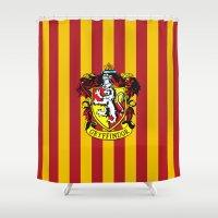 gryffindor Shower Curtains featuring Gryffindor - Hogwarts  by Kesen