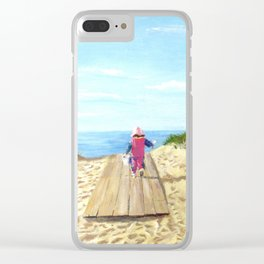 March To The Beach Clear iPhone Case