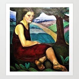 12,000pixel-500dpi - Prudence Heward - Women Who Look Out from the Canvas Art Print