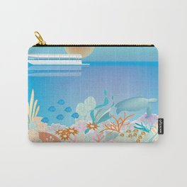 Great Barrier Reef, Australia - Skyline Illustration by Loose Petals Carry-All Pouch