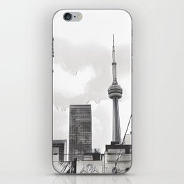 Monochrome Tower iPhone Skin