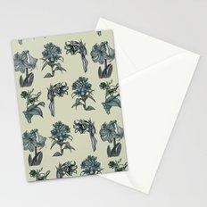 Botanical Florals   Vintage Blue Stationery Cards