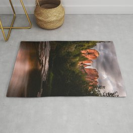 Sedona Vortex II - Chimney Rock Desert Photography Rug