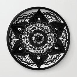 Flower Mandala Number 2 Wall Clock