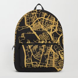 MANILA PHILIPPINES GOLD ON BLACK CITY MAP Backpack