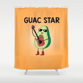Baesic Guac Star Shower Curtain