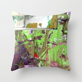 Green Earth Boundary Throw Pillow
