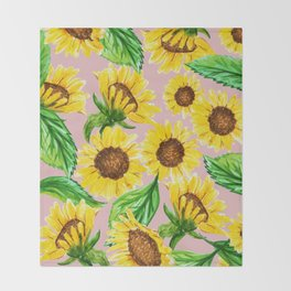 Sunny #society6 #decor #buyart Throw Blanket