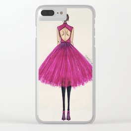 Pink Tulle Clear iPhone Case