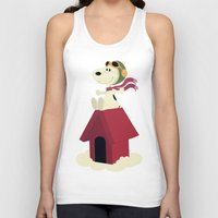 snoopy Tank Tops featuring Snoopy - Red Baron by Ricardo A.
