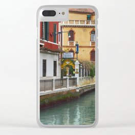 Glimpse of a Venetian Canal Clear iPhone Case