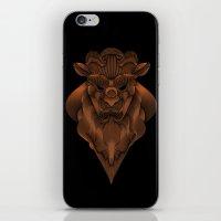 beauty and the beast iPhone & iPod Skins featuring Beast by AngelaBardakjian