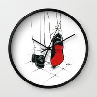 code Wall Clocks featuring Code Red by anna hammer