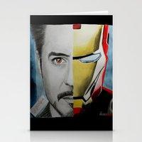 tony stark Stationery Cards featuring Tony Stark by Goolpia