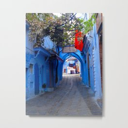 Shopping the Streets of Morocco Metal Print