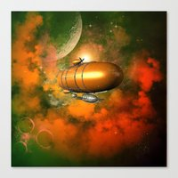 led zeppelin Canvas Prints featuring Zeppelin  by nicky2342