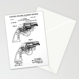 Smith And Wesson Revolver Patent 1894 Stationery Cards