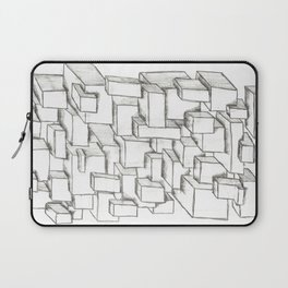 Sketched Cubes Laptop Sleeve
