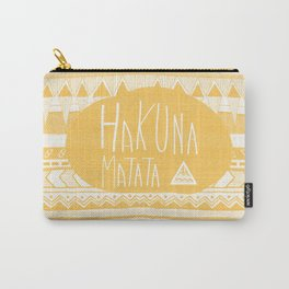 Hakuna Matata tribal navajo yellow Carry-All Pouch