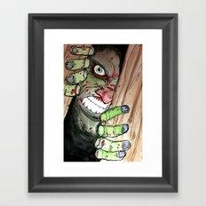 zombie breaking in Framed Art Print