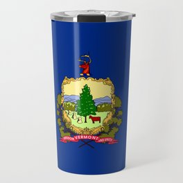 flag vermont,america,usa,Green Mountain,Vermonter, New England,Burlington,Montpelier,Rutland,Barre Travel Mug