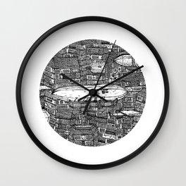 クラッタ市 (Clutter City) Wall Clock