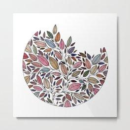 Floral Leaf Illustration *P07008 Metal Print