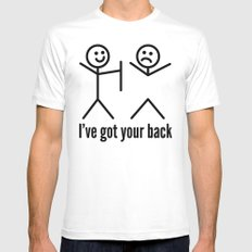 I'VE GOT YOUR BACK White Mens Fitted Tee X-LARGE