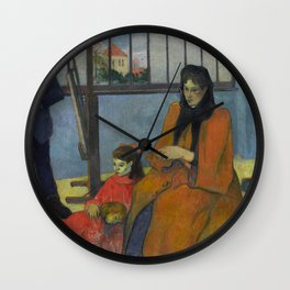 "Paul Gauguin ""La Famille Schuffenecker"" Wall Clock"