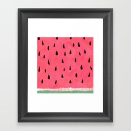 Watermelon / Sandia Framed Art Print