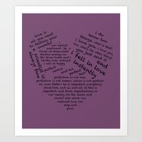 wtnv Art Prints featuring Quotes of the Heart - Cecilos (Black) by fairy911911