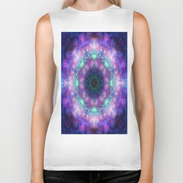 Trippy Purple Deep Space Mandala Biker Tank