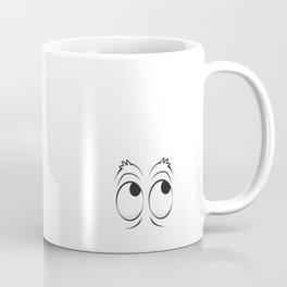 Monster Eyes White Coffee Mug