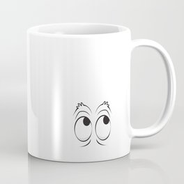 Monster Eyes White Coffee Mug