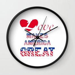 Love makes America great Wall Clock