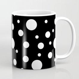 White on Black Polka Dot Pattern Coffee Mug