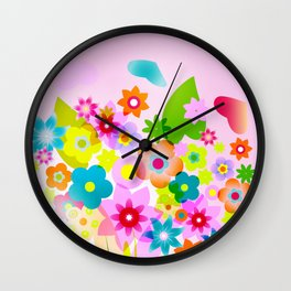 spring flowers valentine mothers day Wall Clock