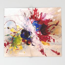 Abstract bouquet Throw Blanket
