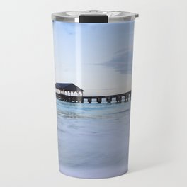 Hanalei Bay Pier at Sunrise Travel Mug