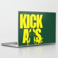 ass Laptop & iPad Skins featuring KICK ASS by justjeff