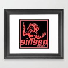 ginger in space Framed Art Print