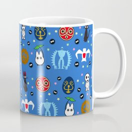 Anime Manga Ghibli Inspired Cute Cheerful Creatures Coffee Mug