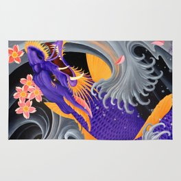 Purple Dragonkoi with Sakura Rug