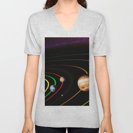 Solar System, the Sun, Planets, & Kuiper Belt by Image Editor Unisex V-Neck